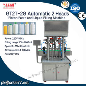 Gt2t-2g Automatic 2 Heads Piston Paste and Liquid Filling Machine pictures & photos