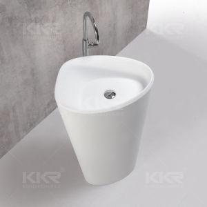 Modern Design Resin Stone Bathroom Freestanding Wash Basin pictures & photos