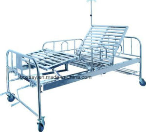 Two Function Manual Hospital Patients Bed BS-728A pictures & photos