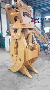 Cat336D/Cat390FL /Cat374FL Excavator Hydraulic and Mechanical Grapple for Wood and Stone pictures & photos