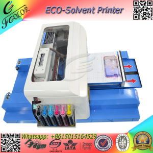 A4 Small Size Eco Solvent Ink Machine Mini Flatbed Printer for Phone Case Pen USB Printing Machine pictures & photos