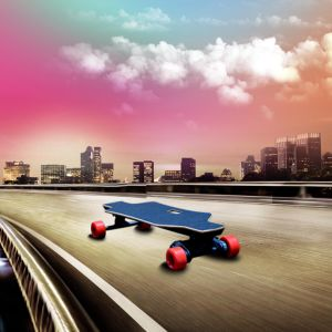 Two Motors Powerful Sporty Remote Control Skateboard pictures & photos