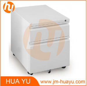 Steel Office Furniture mobile Filing Cabinet with Recessed Drawer Front