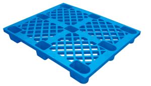 Warehouse Products 1100*1100*140 mm Single Face HDPE Plastic Pallet Stackable Plastic Pallet pictures & photos