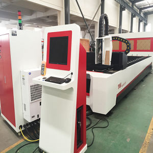 500W Fiber Laser Rotary Die Board Cutting Engraving Marking Machine pictures & photos
