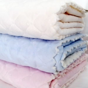 Ultrasonic Embossed Baby Blanket / Micro Mink with Sherpa pictures & photos