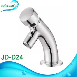 Brass Time Delay Faucet Round Shape Basin Mixer Tap pictures & photos