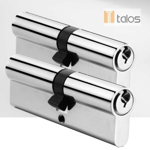 En1303 Euro Secure Double Cylinder Lock Chrome Plating Keyed Alike Pair pictures & photos