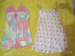 Fancy and latest Fashion Ladies Silk Night Gown/Wear Used Clothes in Bales pictures & photos