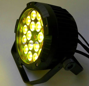 Waterproof Outdoor 18*15W RGBWA+UV 6in1 LED Flat Slim PAR Light pictures & photos