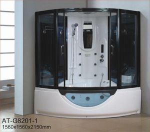 1560mm Steam Sauna with Jacuzzi and Shower for 2 Persons (AT-G8201) pictures & photos