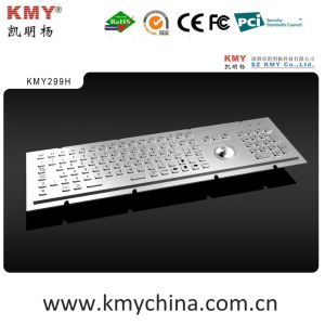 Waterproof IP65 Kiosk Metal Keyboard with Trackball (KMY299H) pictures & photos