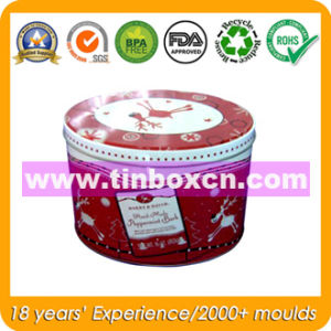 Round Cookie Tin Box with Food Grade, Biscuit Tin Container pictures & photos
