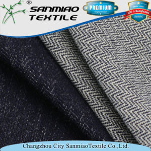 Indigo Twill Cotton Spandex Knitted Denim Fabric for Women′s Garments pictures & photos