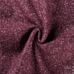 Compound Flower Wool/Cotton Fabric for Winter in Red pictures & photos