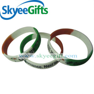 Wholesale Cheap Price Festival Promotional Colorful Printed Fashion Silicone Wristband pictures & photos
