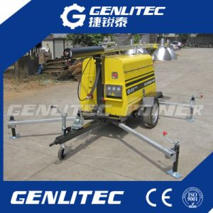 Trailer Mounted Heavy-Duty Mobile Light Tower with 5kw Generator pictures & photos