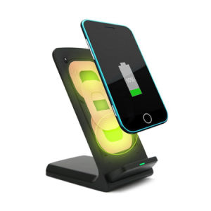 Stand 3-Coil Wireless Qi Inductive Fast Charging Charger for iPhone pictures & photos