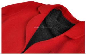 Red Woman′s Woolen Dust Coat pictures & photos