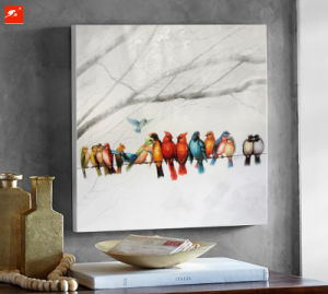 Colorful Birds Oil Painting with Frame for Decoration pictures & photos