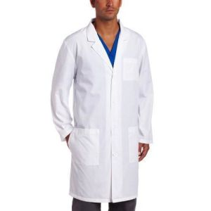 Wholesale Mens White Lab Coat with 3 Pockets (A606)