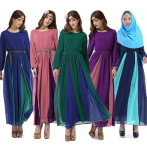 Jilbab Islamic Muslim Kaftan, Women Vintage Maxi Abaya (A188)