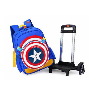 Children Cartoon School Backpack Trolley School Bag with Wheels pictures & photos
