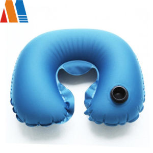 Comfortable Oxford Fabric with PVC or TPU Coating Inflatable Neck Pillow for Airplane pictures & photos