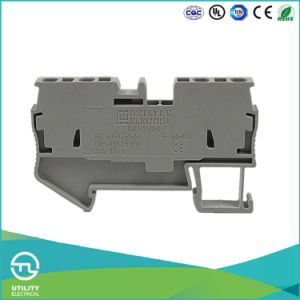 New Product DIN Rail Terminal Block Spring Style Jut3-2.5/2-2 -St 2.5-Quattro-U pictures & photos