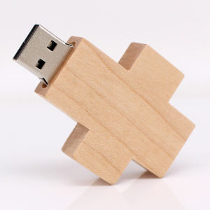 Best Wholesale Price Cross Shaped Wooden USB Flash Drive with High Speed pictures & photos
