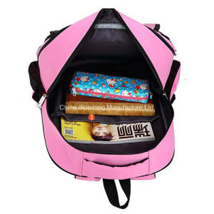 Lovely Pink Rolling Students School Backpack Wheel Trolley School Bag pictures & photos
