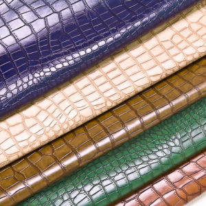 Crocodile Grain PVC Synthetic Leather for Furniture pictures & photos
