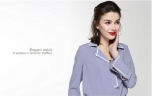 Latest Loose Comfortable V-Neck Fashion Women′s Shirt pictures & photos