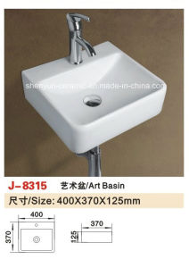 Sanitary Ware Bathroom Fitting Wall-Hung Wash Basin Bathroom Sink (J- 8028) pictures & photos