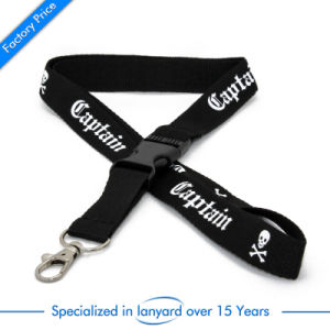 Customized Flat Polyester Lanyard Grosgrain Ribbon pictures & photos