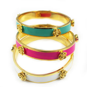 Gold Rose Stainless Steel Hinged Bracelet Multi Styles Bangle pictures & photos