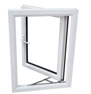 2017 Design UPVC Casement Swing Window PVC Awning Window