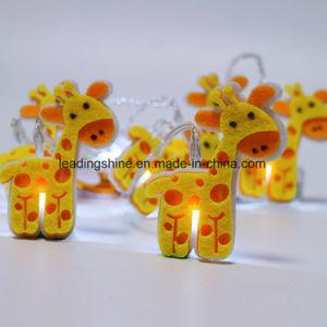 Environmental Battery Operated Giraffe Shape LED Flashing Decorative Fairy Light for Baby′s Room