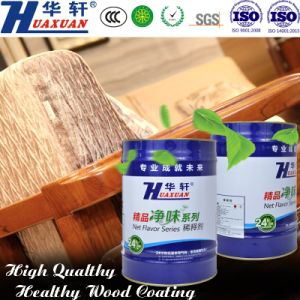 Huaxuan PU Air Clean Open Effect Feeling Matte White Top Coat Wooden Furniture Paint pictures & photos