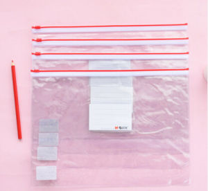 A4 Transparent PVC Drawstring Bag Document Bag pictures & photos
