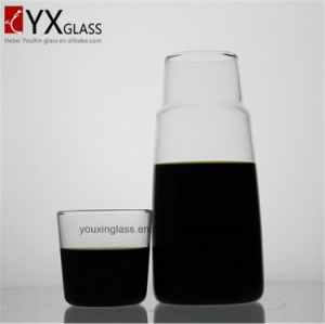 Glass Water Pitcher/Cold Water Pitcher/Fruit Juice Pot of Cold Water Pot/OEM and ODM Cold Tea Juice Milk Glass Jars with Glass Lid or Cup pictures & photos