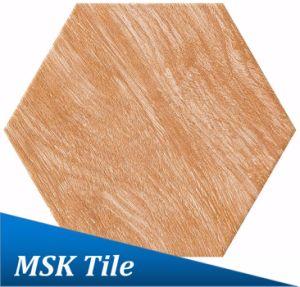 Wood-Look Porcelain Hexagon Rustic Tile Kl-10-Y1