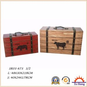 Antique Furniture Decorative Farm Cow Pattern Print Storage Box, Gift Box and Suitcase pictures & photos