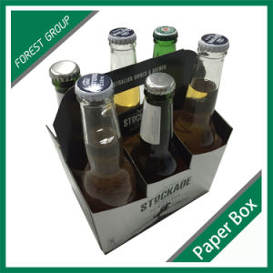Custom Corrugated Cardboard Packaging Glass Bottle 6 Pack Beer Box pictures & photos