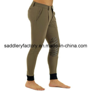 Horse Riding Silicone Grip Men Breeches (SMB4006) pictures & photos