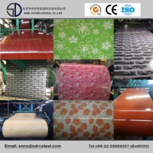 Flower Designed Prepainted Steel Coil Grain PPGI pictures & photos