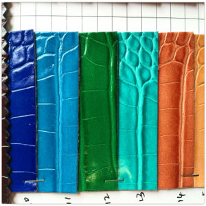 Crocodile PVC Leather for Shoes Bags Hw-1453 pictures & photos