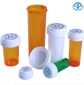 Medical Plastic Child Resistant Reversible Cap Pharmacy Vials Pill Bottles Weed Containers pictures & photos