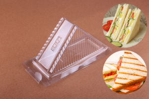 Pet/PVC Plastic Triangle Clear Sandwich Food Clamshell Box pictures & photos