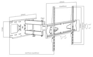 """Wholesale Stainless Steel TV Mount, Full Motion TV Mount for 32""""-70"""" (CT-WPLB-EA202L) pictures & photos"""